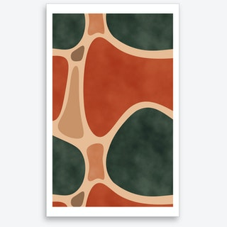 Earth Tones Shapes Art Print