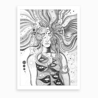 Outdoor Wig Art Print