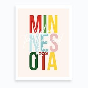 Minnesota Land Of Ten Thousand Lakes Color Art Print