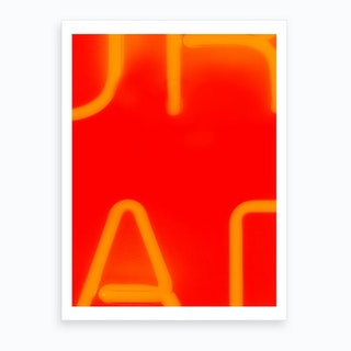 Red Neon Letters Art Print