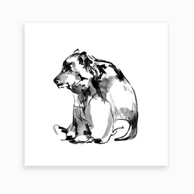 Sitting Bear 2 Art Print