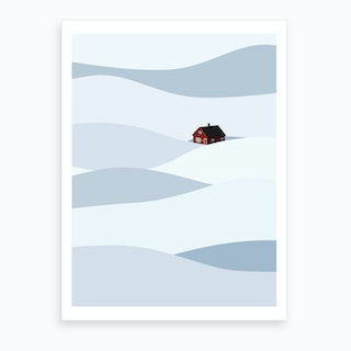 House In The Snow Art Print