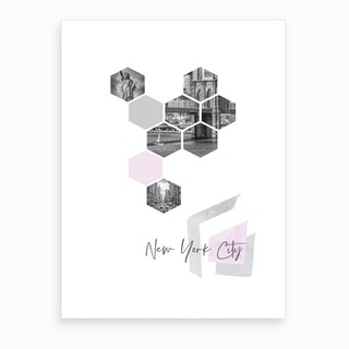 Urban Design New York City No 3 Pink Art Print