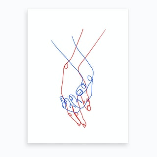 Two Hands Art Print