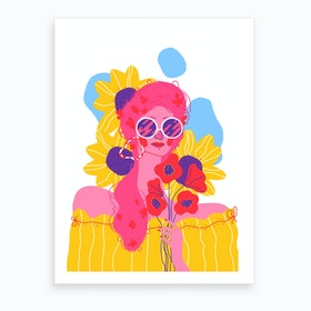 The Lady In Bloom Art Print