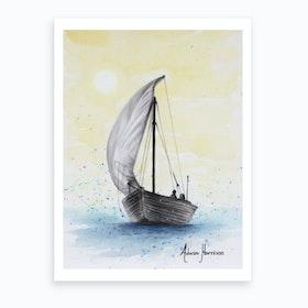 Wherever The Breeze Takes Me Art Print