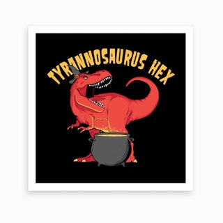 Tyrannosaurus Hex Art Print