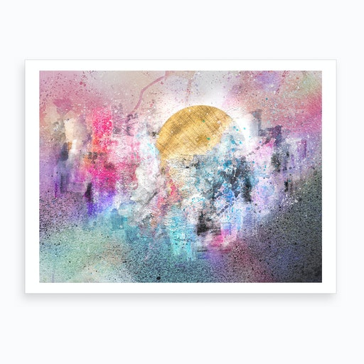 Delightful City  Abstract Painting VII Art Print