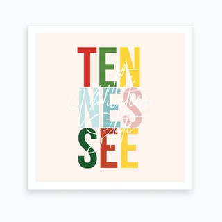 Tennessee The Volunteer State Color Art Print