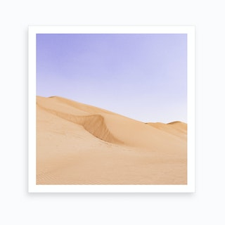Sand Dunes In Middle East Art Print