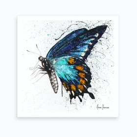 Butterfly Bliss   Square Art Print
