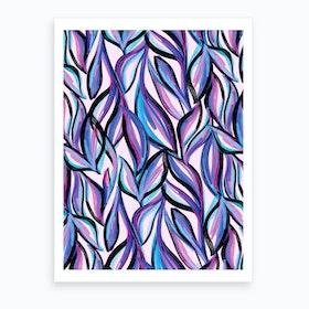 Soothing Leaves Art Print