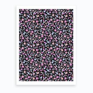 Planets Constellation Pink Art Print