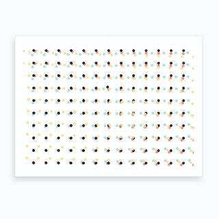 Polka Dots Pattern 01 Art Print