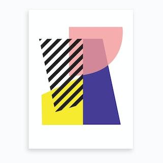 Throwing Shapes 2 Art Print