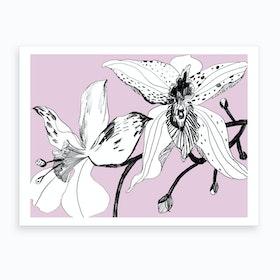 Expressive Orchids 1 Art Print
