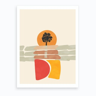 Modern Shapes 4 Art Print