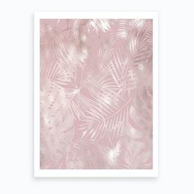 Pink on Pink Leaves Art Print