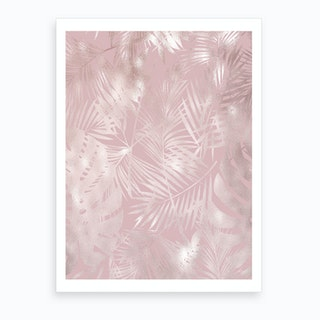 Pink on Pink Leaves Art Print
