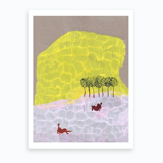 Yellow Mountain Art Print