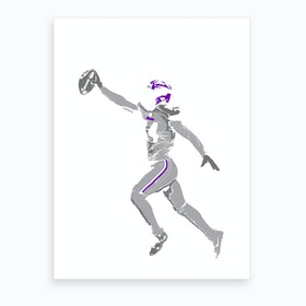Stefon Diggs Two Art Print