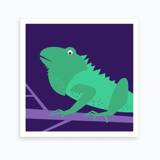 Kids Room Iguana Art Print