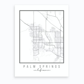 Palm Springs California Street Map Art Print