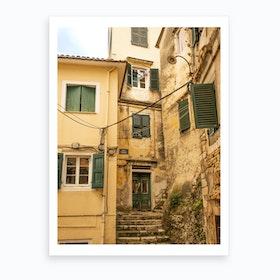 Corfu Old Town  Art Print