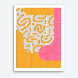 Sunny Doodle Tiles 03 Art Print