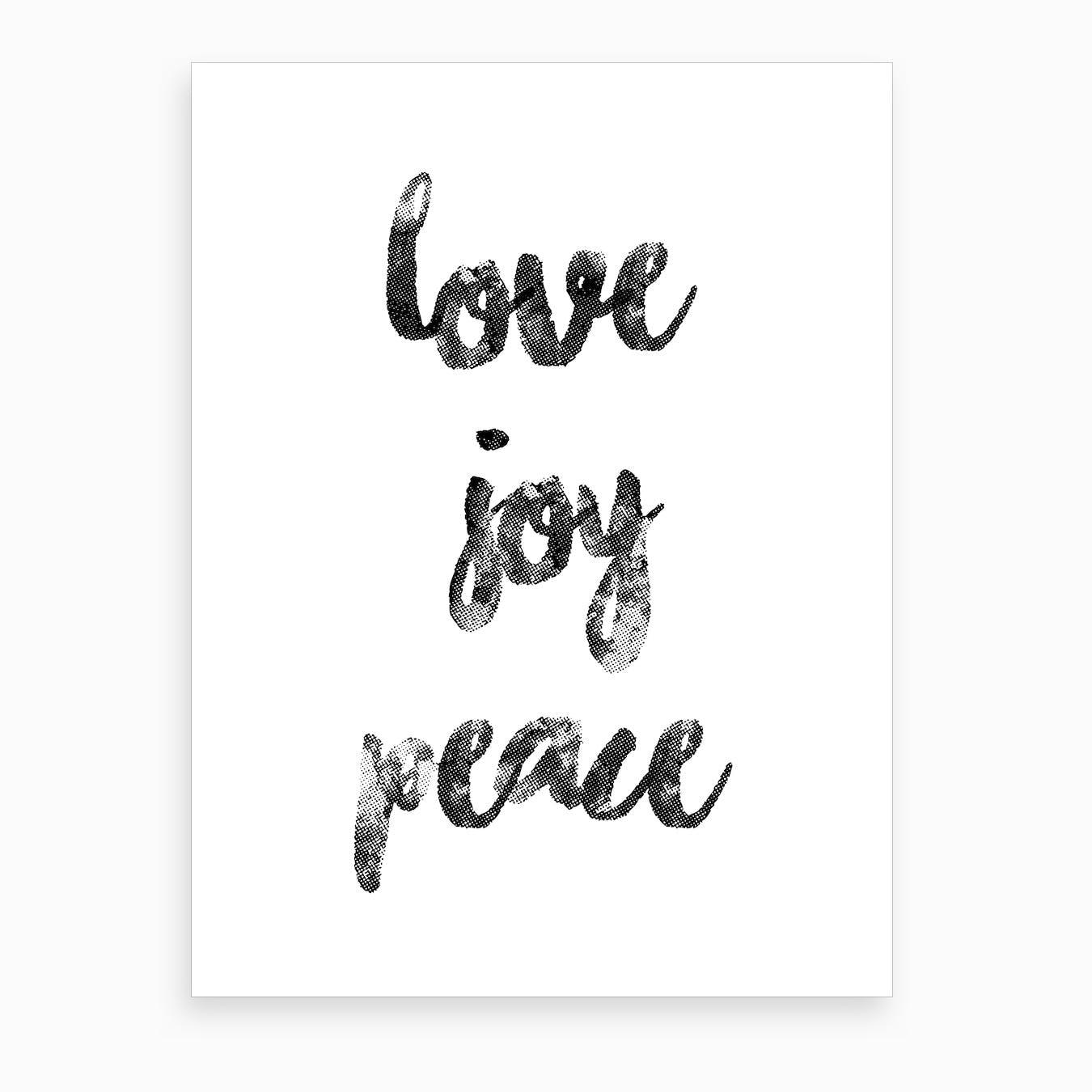 Love Joy Peace Art Print