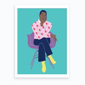 Woman Sitting Art Print