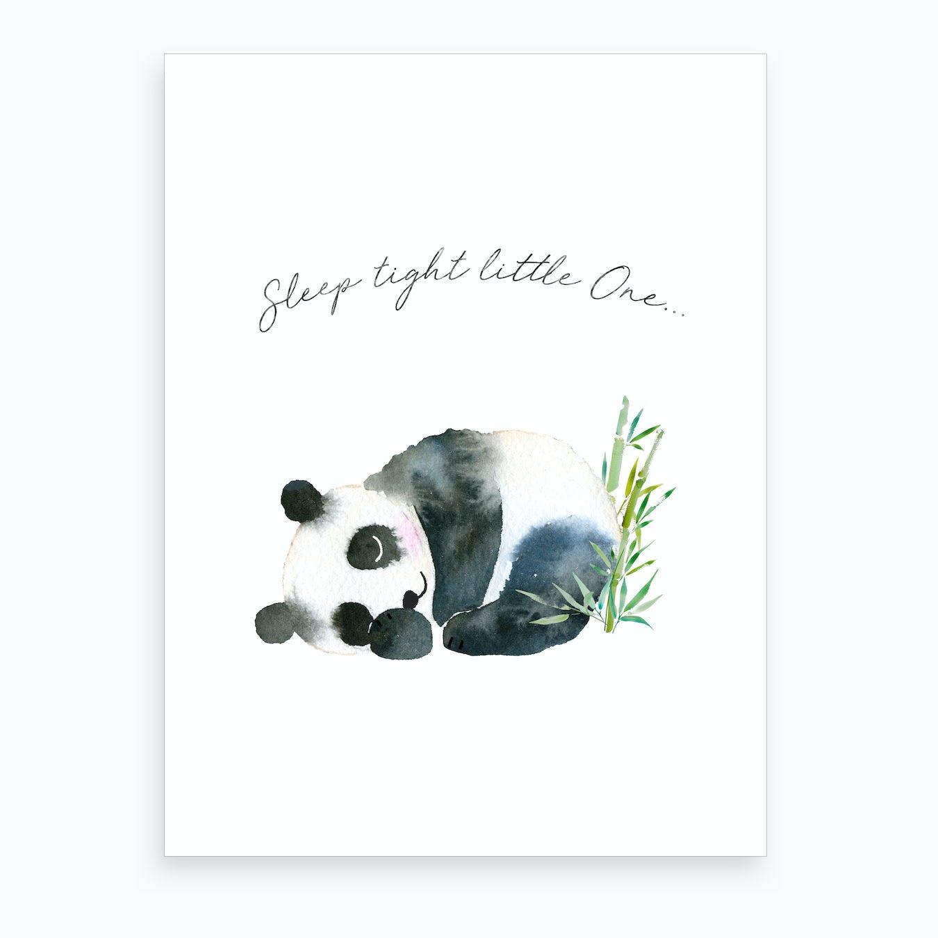 Sleep Tight Little One Panda Art Print