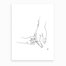Father And Daughter Art Print
