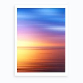 Abstract Sunset IV Art Print