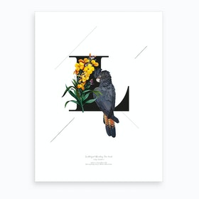 Botanical Alphabet L Art Print