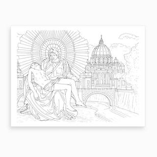 Basilica Of Saint Peter In Rome Art Print