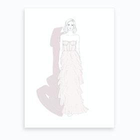 Layers Of Chiffon Art Print