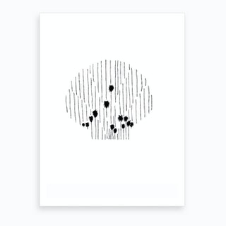 Salt And Surf   Palmtree Scallop Art Print