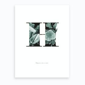 Flower Alphabet H Art Print