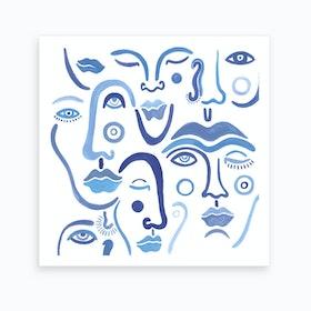 Blue Tinted Emotion Art Print