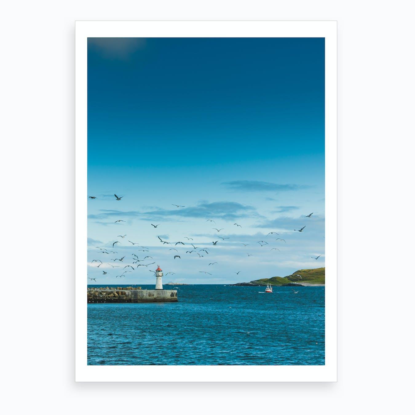 Vardø Harbour Art Print