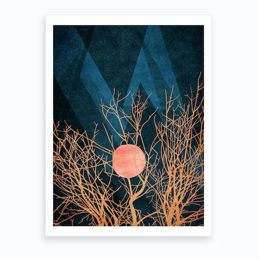 Sleeping Sun Art Print