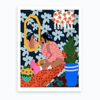Mirror Girl Art Print