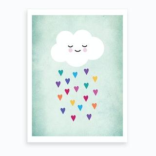 Sleepy Cloud Nursery Art Print