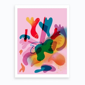 Abstract Colorful 02 Art Print
