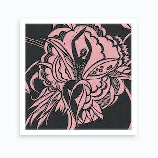 Flower Dancer Pink Art Print