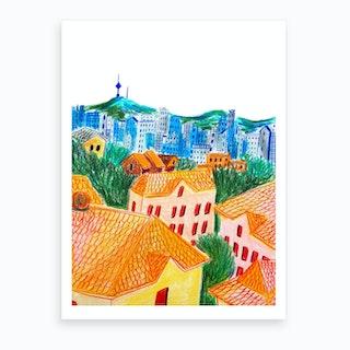 In Buam Dong, Seoul Art Print