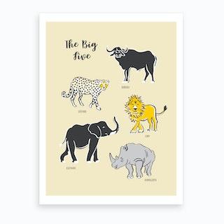 Big Five Safari Art Print