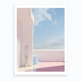 Blue Fur Blue Sky Art Print