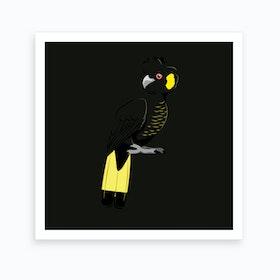 Yellow Tailed Black Cockatoo Art Print